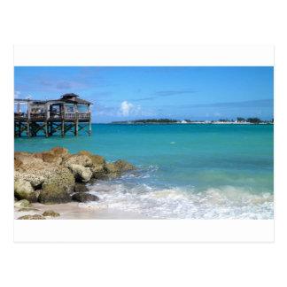 White Sand Beaches in the Bahamas Postcard