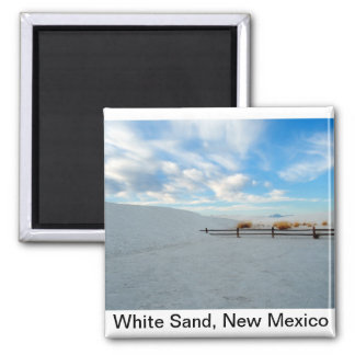 White Sand Monument, New Mexico Square Magnet