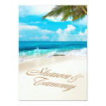 White Sands Beach ASK ME TO PUT NAMES IN SAND 13 Cm X 18 Cm Invitation Card