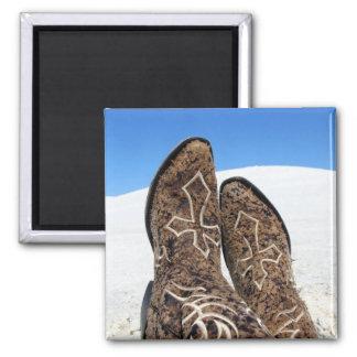 White Sands Desert Square Magnet