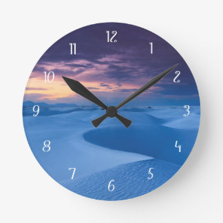 White Sands National Monument 2 Round Clock