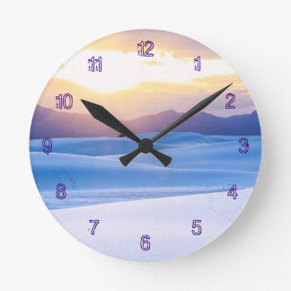 White Sands National Monument 3 Round Clock