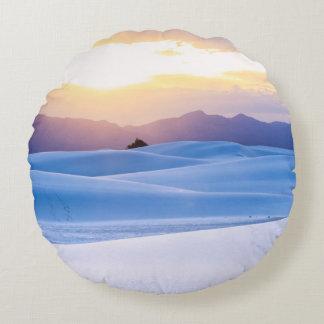 White Sands National Monument 3 Round Cushion
