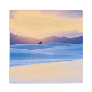 White Sands National Monument 3 Wood Coaster