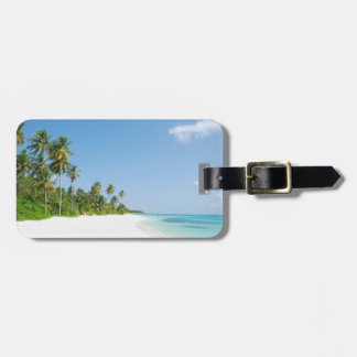 White Sands Paradise Beach Travel Luggage Tag