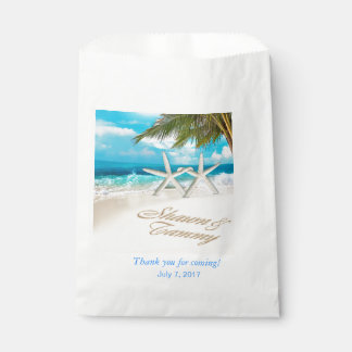 White Sands Starfish Beach Wedding Favour Bags