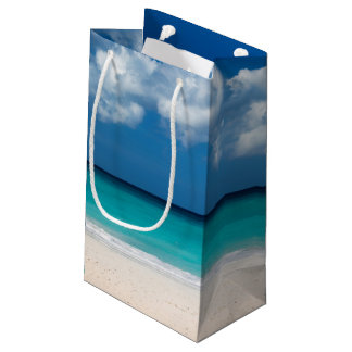 White sandy beach at Eagle Beach Small Gift Bag