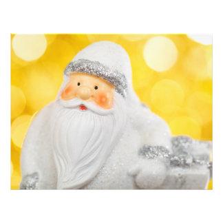 White Santa Claus Christmas decoration Personalized Flyer
