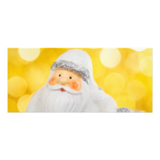 White Santa Claus Christmas decoration Personalized Rack Card