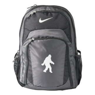 White Sasquatch Silhouette For Dark Backgrounds Backpack