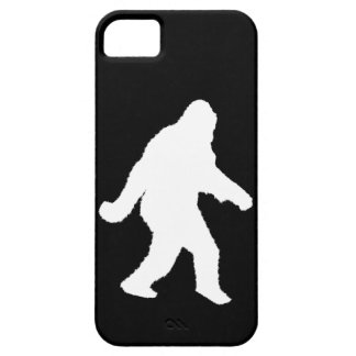 White Sasquatch Silhouette For Dark Backgrounds Barely There iPhone 5 Case