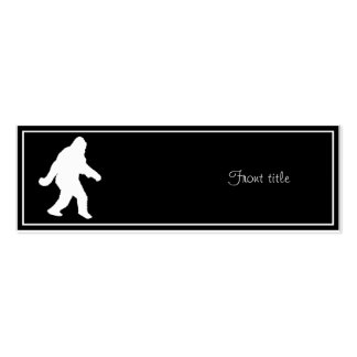 White Sasquatch Silhouette For Dark Backgrounds Double-Sided Mini Business Cards (Pack Of 20)