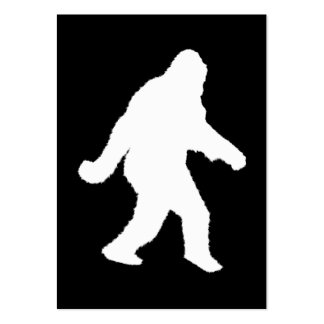 White Sasquatch Silhouette For Dark Backgrounds Business Card Templates