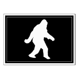 White Sasquatch Silhouette For Dark Backgrounds Pack Of Chubby Business Cards
