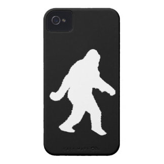 White Sasquatch Silhouette For Dark Backgrounds Case-Mate iPhone 4 Cases
