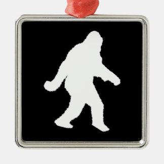 White Sasquatch Silhouette For Dark Backgrounds Christmas Ornament