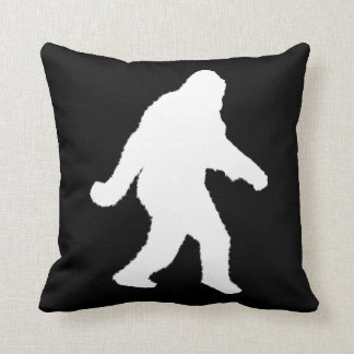 White Sasquatch Silhouette For Dark Backgrounds Cushion
