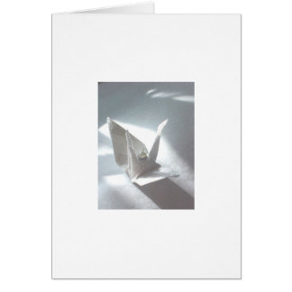 White Satin Crane Card