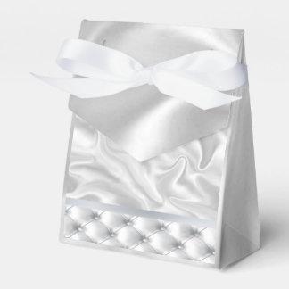 White Satin Quilt Favour Boxes