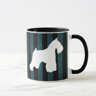 White Schnauzer Stripes Coffee Mug