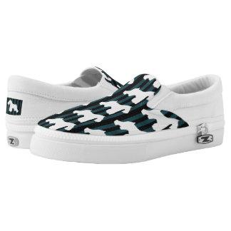 White Schnauzer Stripes Shoes