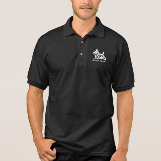 White Scottie Personalise Polo Shirt