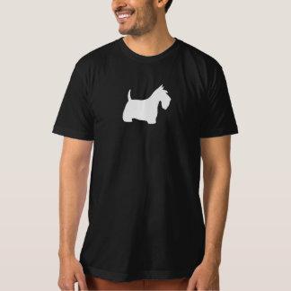 White Scottish Terrier Silhouette T-Shirt