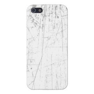 White Scratched Aged and Worn Texture iPhone 5 Cases