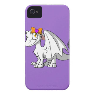 White SD Furry Dragon w/ Halloween Heart Hairbow iPhone 4 Cases