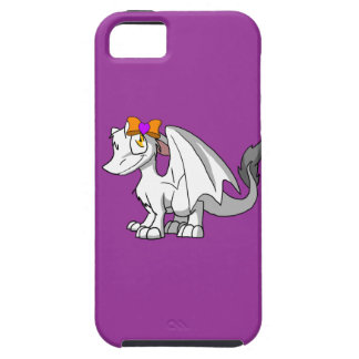 White SD Furry Dragon w/ Halloween Heart Hairbow iPhone 5 Cover
