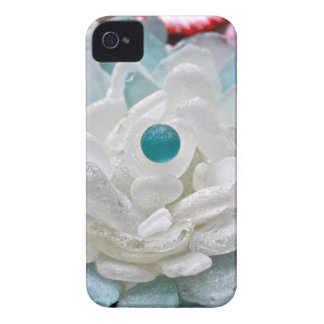 White Sea Glass Flower iPhone 4 Cases