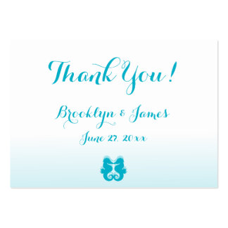 White Seahorse Wedding Favor Tags Business Cards