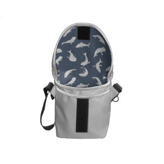 White Seals Swimming Commuter Bags
