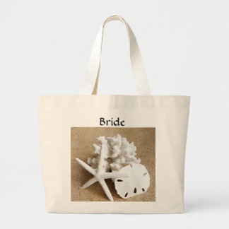 White Seashells on the Beach Bride's Tote Bag