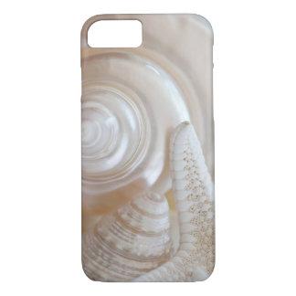 White Seashells Starfish Tropical Beach Sea Shells iPhone 7 Case