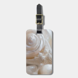 White Seashells Starfish Tropical Beach Sea Shells Luggage Tag