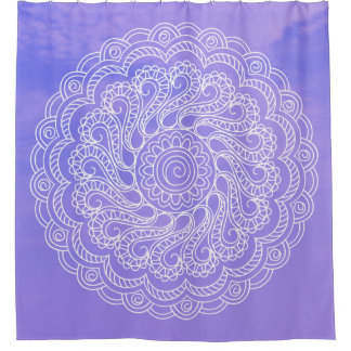 white sends it in the sky shower curtain
