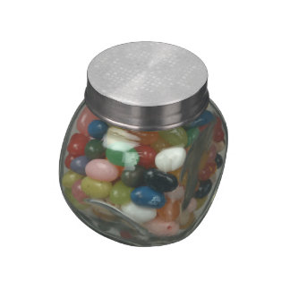 White Sequin Effect Jelly Belly Candy Jars