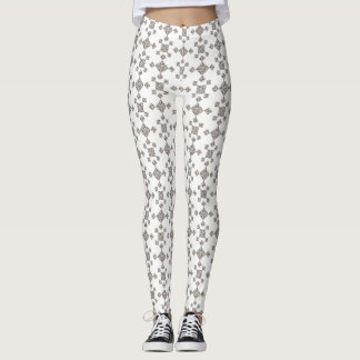 White & Shades of Grey, Geometric Tile Leggings