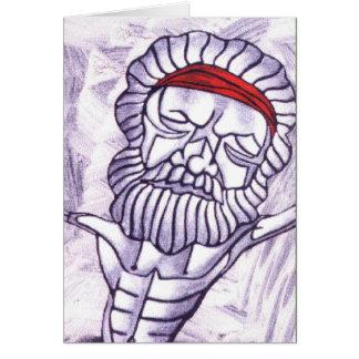 White Shaman detail Greeting Card