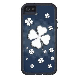 White shamrocks on blue background case for the iPhone 5