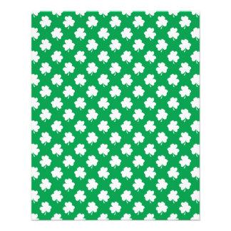 White Shamrocks on Green St.Patrick's Day Clover Custom Flyer