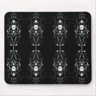 White Shapes Mouse Pad