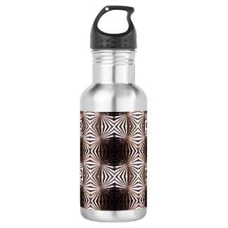 White Shapes Pattern Water Bottle