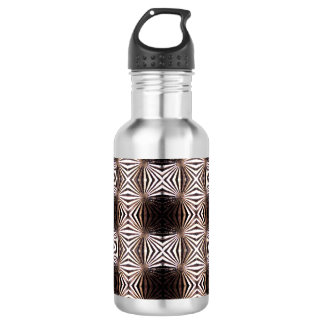 White Shapes Pattern Water Bottle 532 Ml Water Bottle