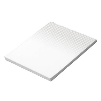 White sharp points notepad