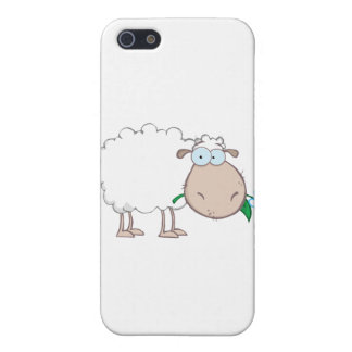 White Sheep Cartoon Character Eating A Flower Case For The iPhone 5