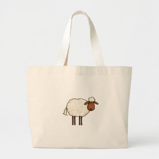 white sheep large tote bag