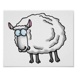 White sheep poster