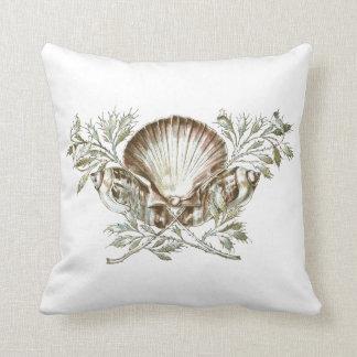 White Shell Cushion